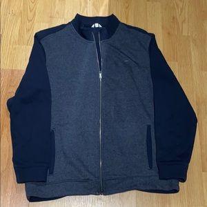 Calvin Klein navy blue track sweater